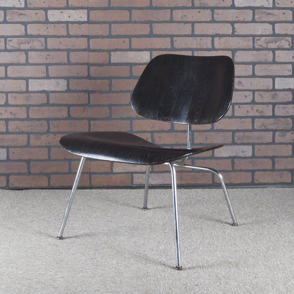 Black 1940s Evans Plywood Products Eames LCM - Ply Lounge Chair Metal