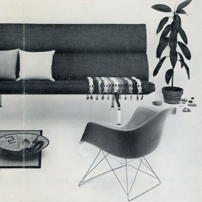 Vintage 1955 Herman Miller Brochure Showing Eames LAR
