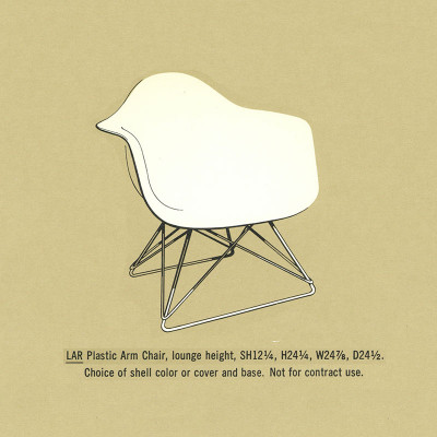 1964 Herman Miller Brochure Specs page featuring the Eames LAR