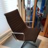 Black 1963 Herman Miller Eames Alu Group High Back Side Chair thumbnail
