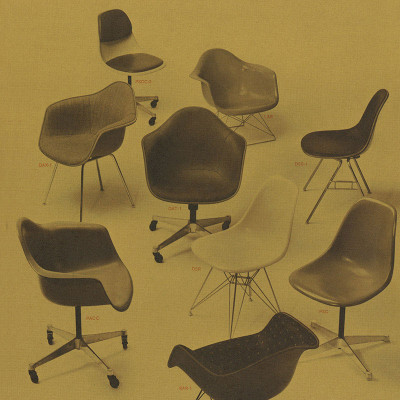 1959 Vintage Herman Miller advert with DAT in the center