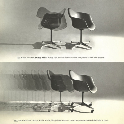1964 Herman Miller catalog page for the PAC and PACC