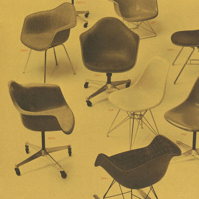 Herman Miller vintage fiberglass chair advert