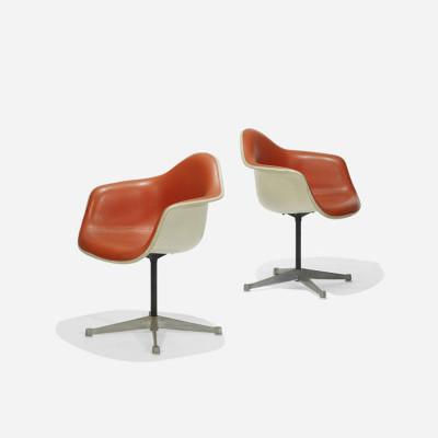 Matching pair of Naugahyde fabric covered PAC chairs